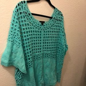 Teal colored summer tunic